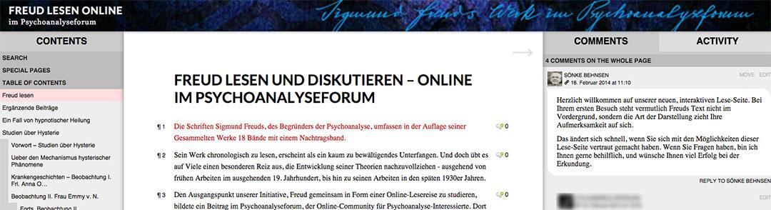 Aufbau einer Online-Community für Psychoanalyse-Interessierte