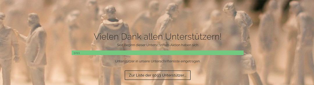 Durchführung einer Online-Petitions-Kampagne